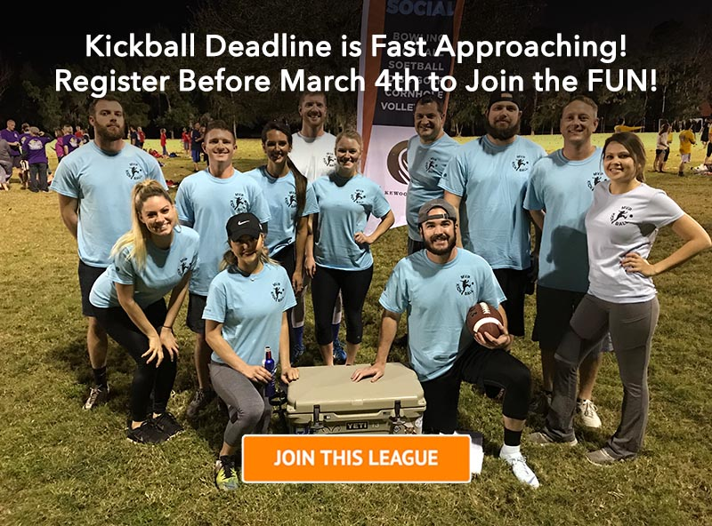 Register for the Kickball League